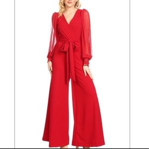 Plus Size Karen T Design Black/Gold Jumpsuit Sz18